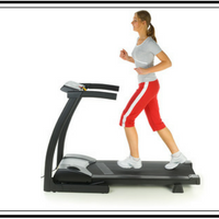 lady on treadmill