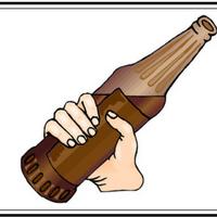 hand around a soda bottle