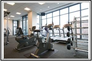 gym with cardio equipment