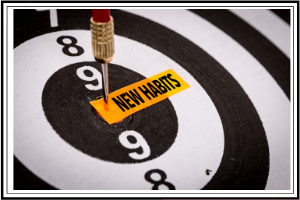 focus your time target with new habits in the bullseye