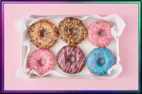 box of pretty donuts